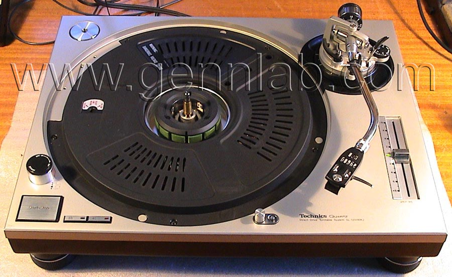 Technics SL-1200MK2 Platter removed