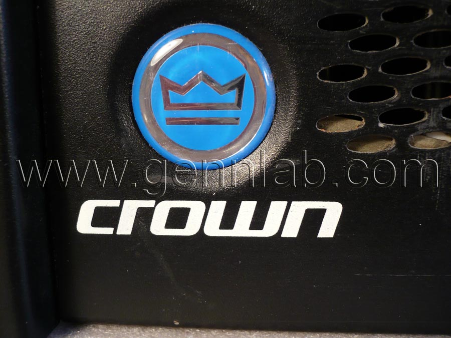 CROWN XLS402 Power Amplifier. Front Panel, left.
