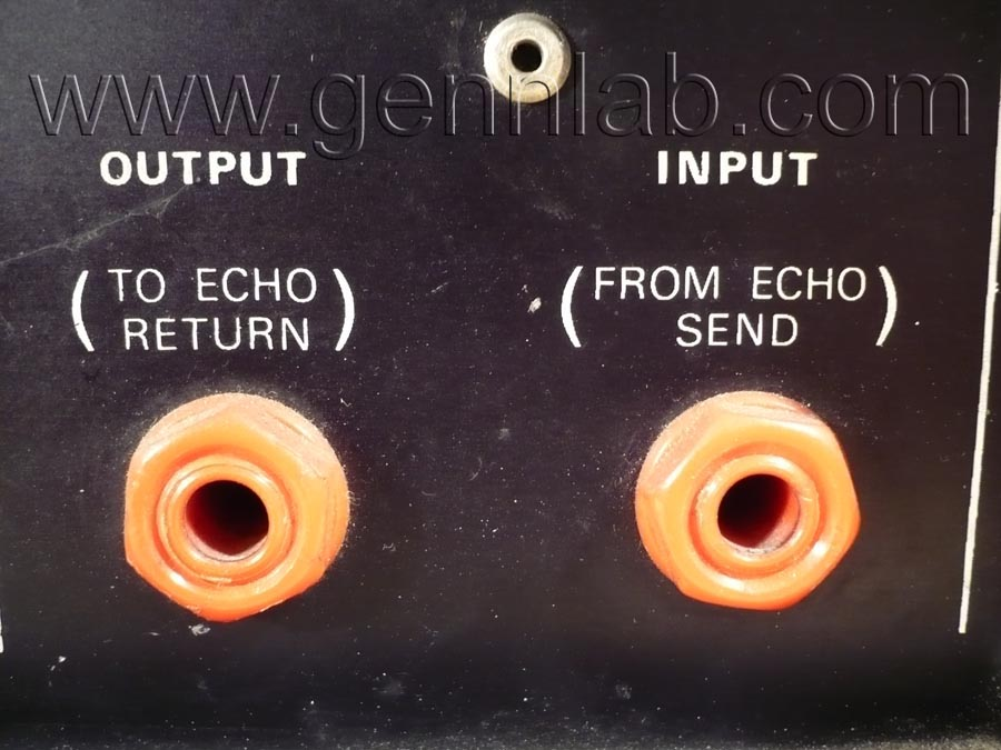 HH Tape Reverb Rear Panel INPUT/OUTPUT Connectors