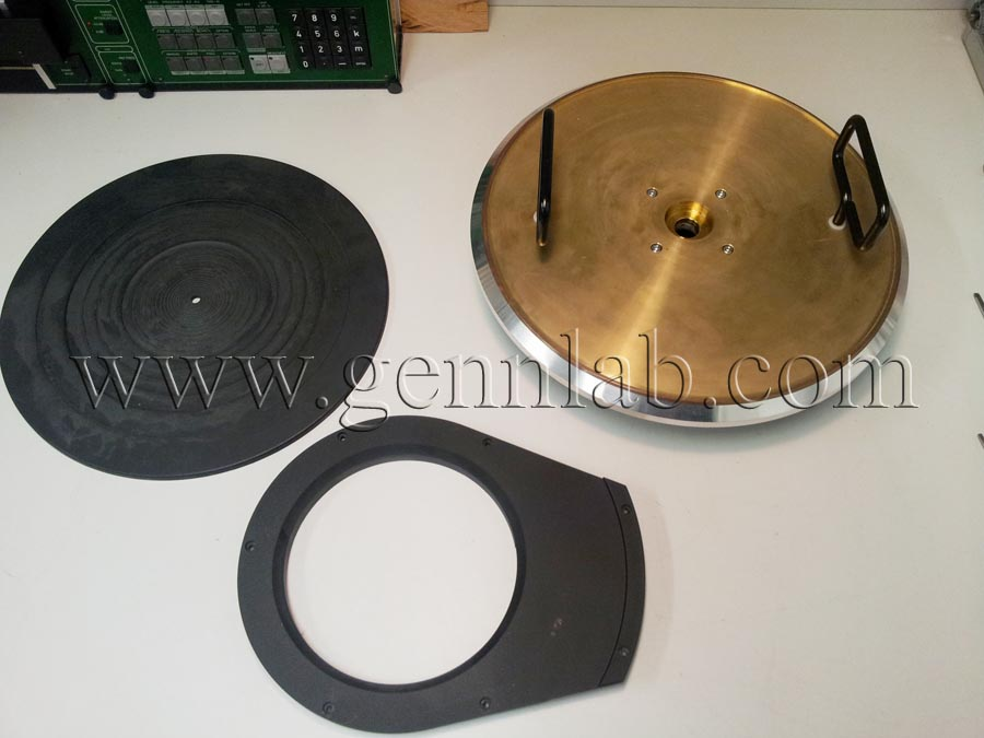 Technics SP10mk3 Platter, Mat, Brake Cover.