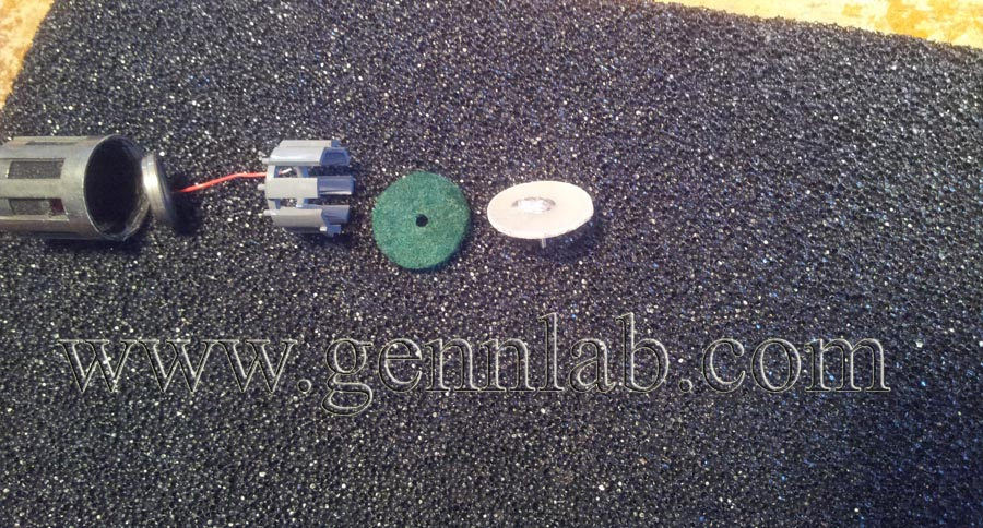 AKG C535EB. Transducer dismantled 1.