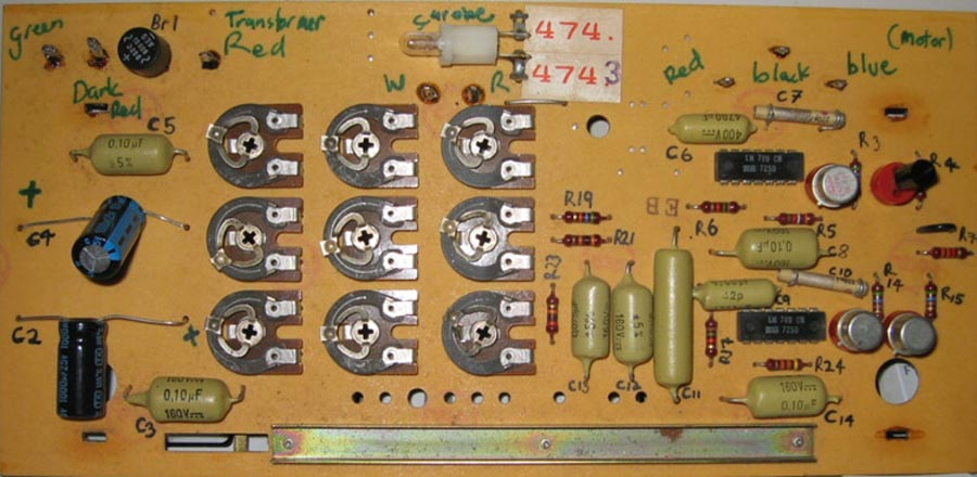 Thorens TD125 MkII Speed Control PCB