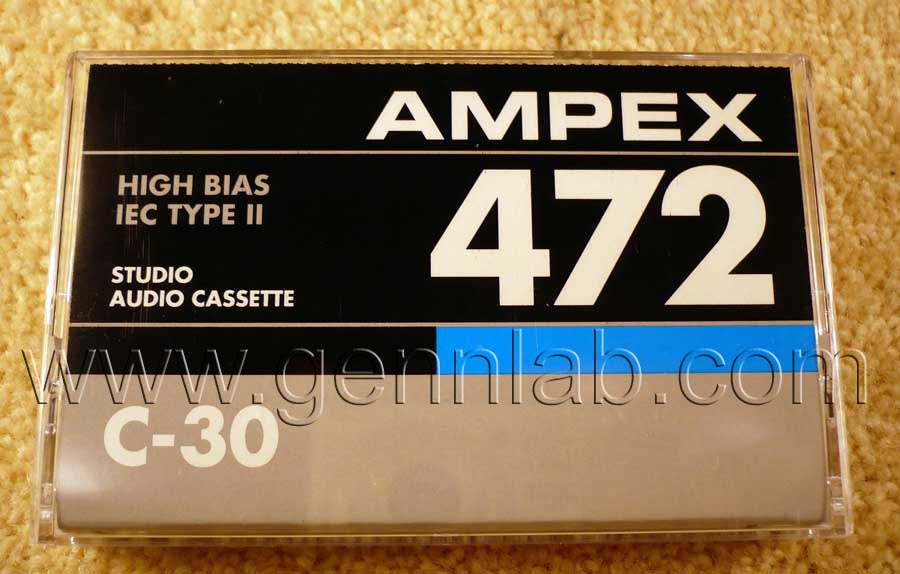 AMPEX 472 C30. Box. Front label.