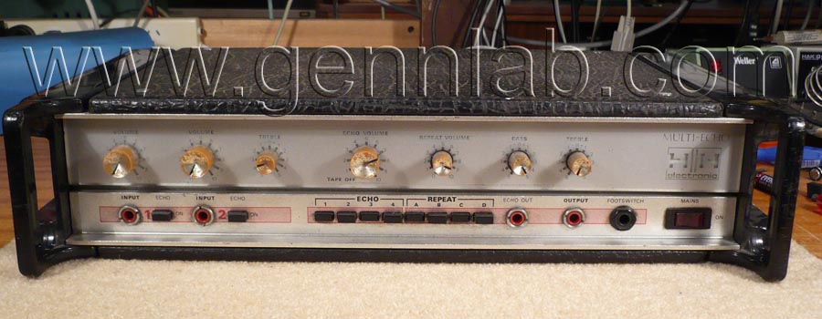 HH Tape Reverb as received from a customer