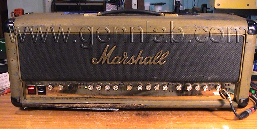 Mrshall 6100 30th Anniversary. Front. As received from a customer.