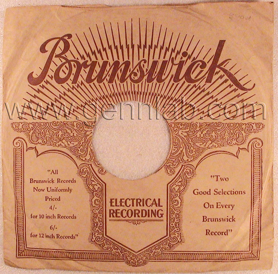 Brunswick Electrical Recording. Side1