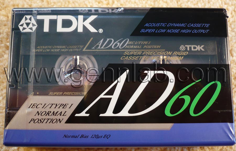 TDK AD60. Japan. Sealed. Front label.