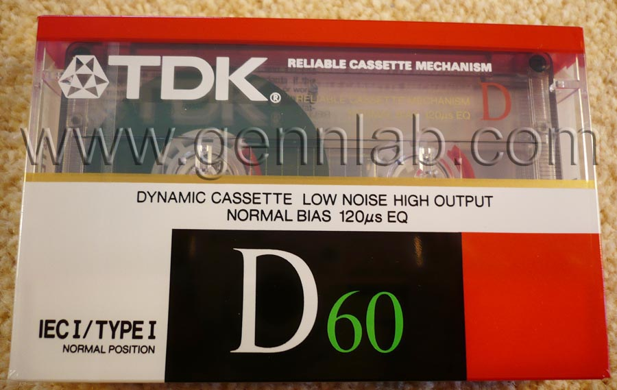 TDK D60. Japan. Sealed. Front label.
