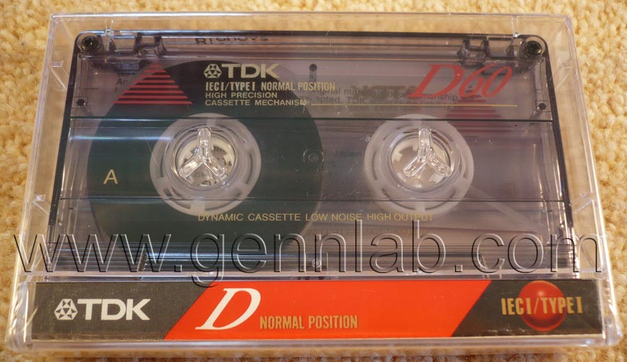 TDK D60. Japan/Tailand. Sealed. Front