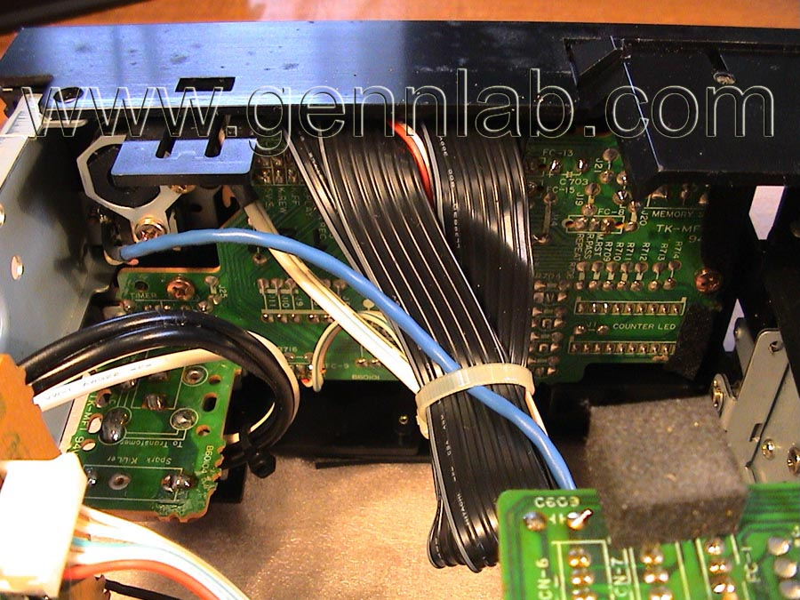 Nakamichi BX-300 Control Switch PCB wiring 1