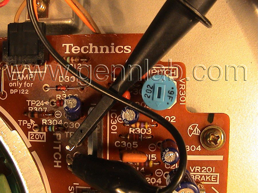 Technics SL-1200MK2 Pitch Adjustment Circuit and connections
