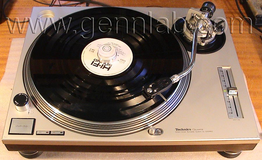 Technics SL-1200MK2 under test 1