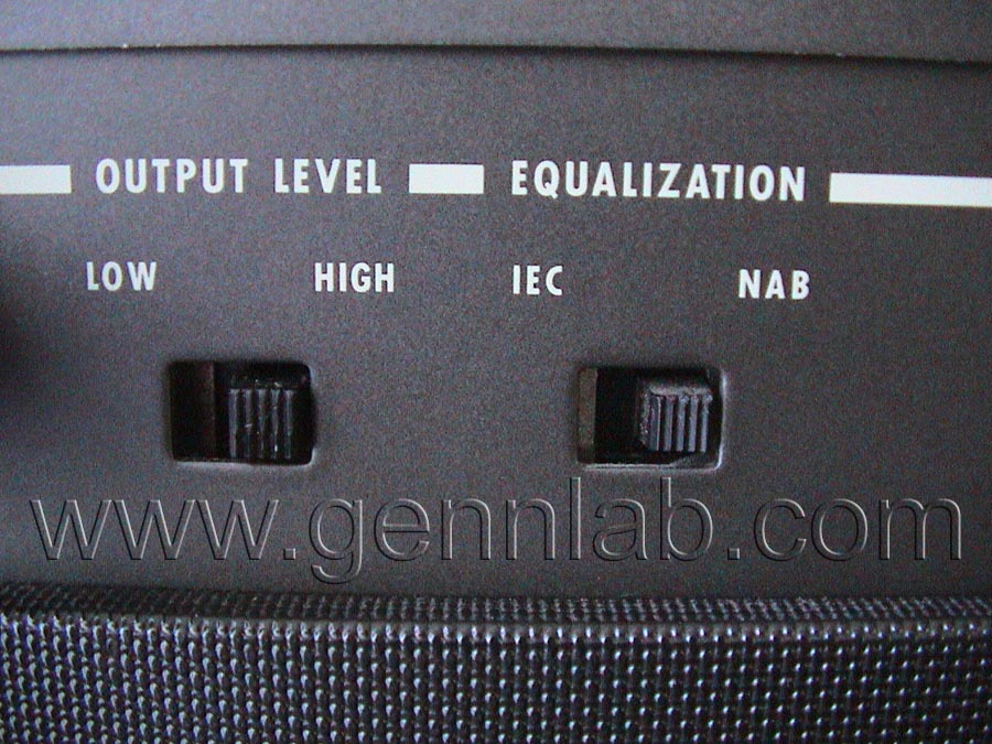 OTARI MX-5050B2 Output Level and Equalization Switches