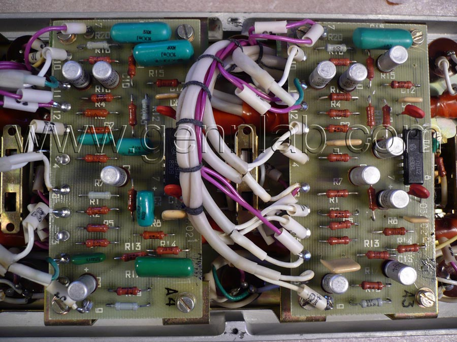 Exo 2M Reverb. Front Panel. Output and Reverb Amplifiers