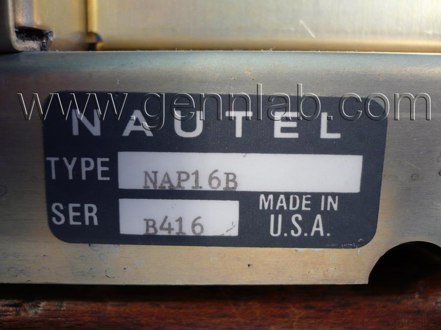 NAUTEL NAP16B Serial Number