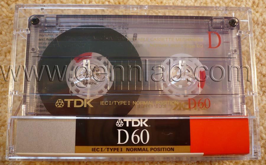 TDK D60. Japan. Open. Box, front.
