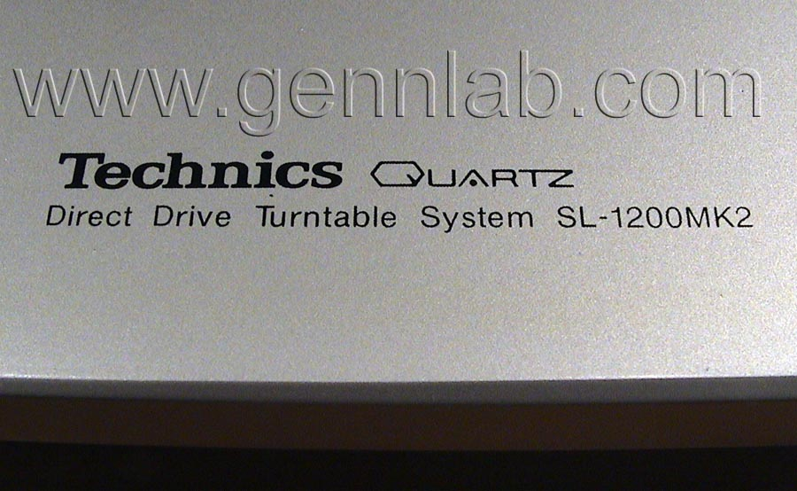 Technics SL-1200MK2 Base Top Panel marking