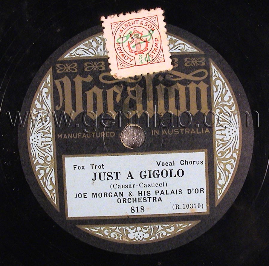 Vocalion 10in 78 818 (R.10370) Label