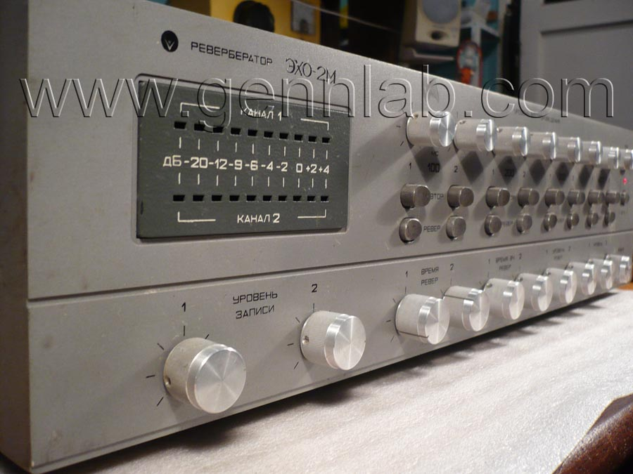Exo 2M Reverb. Front Panel. Left view