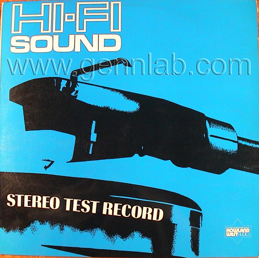 HI-FI SOUND HFS75 STEREO TEST RECORD cover. Front Side
