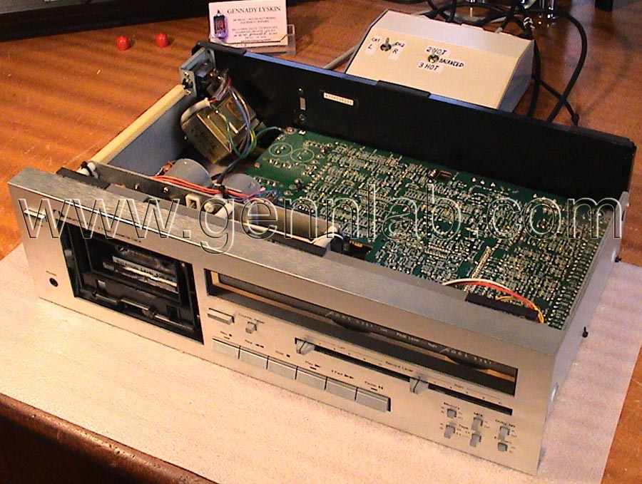 Nakamichi 480 Silver face. Open, top