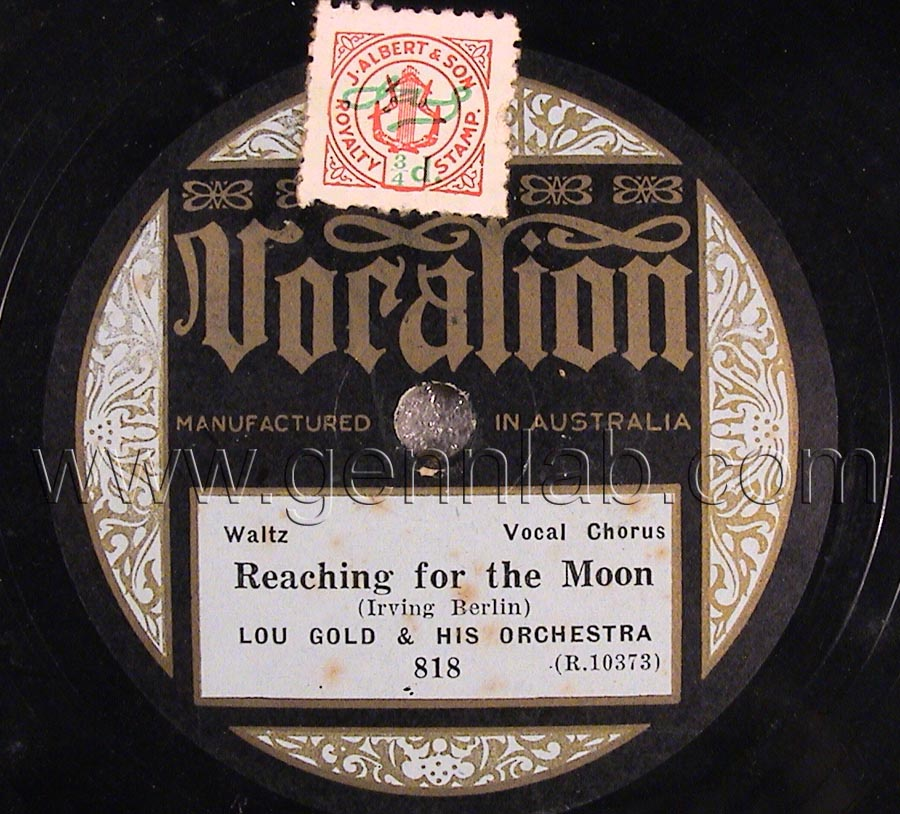 Vocalion 10in 78 818 (R.10373) Label