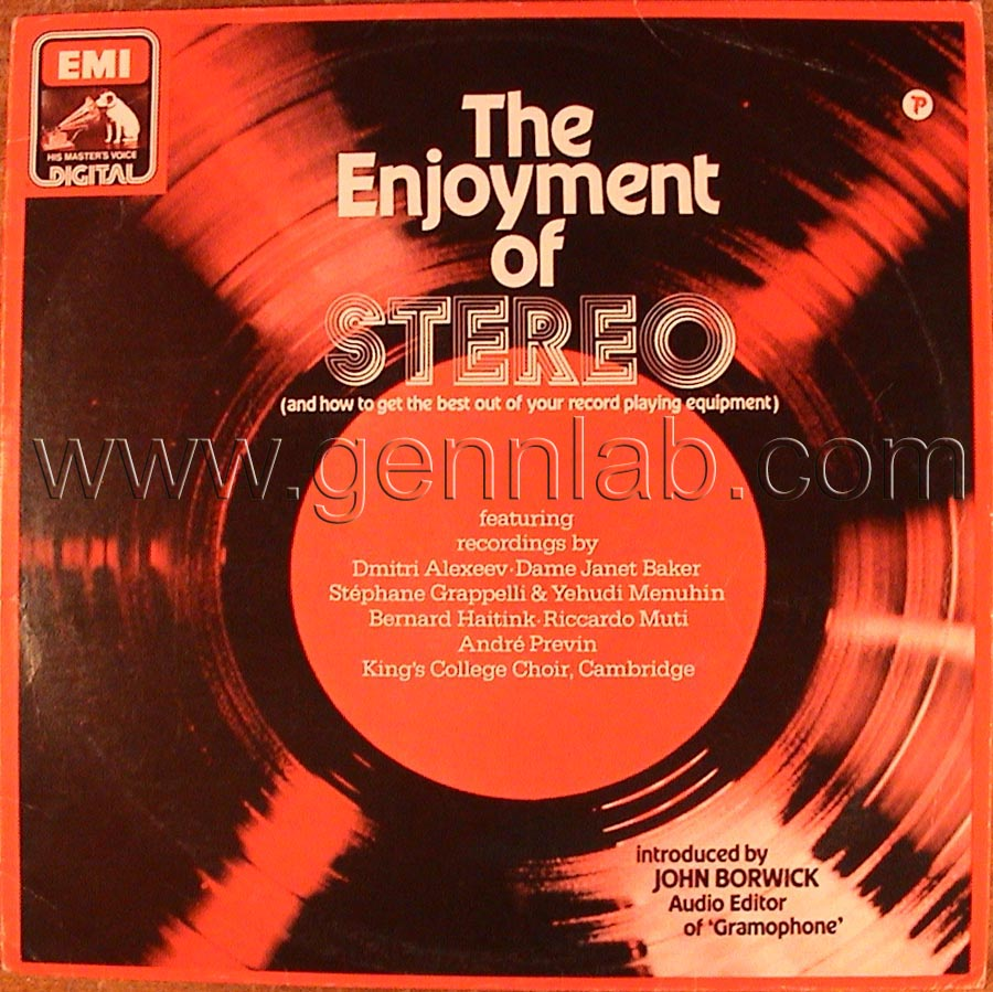 EMI The Enjoiment of STEREO Record cover. Front Side