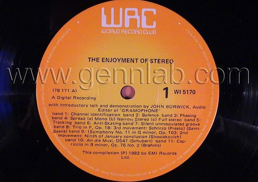 EMI The Enjoiment of STEREO Record label. Side 1