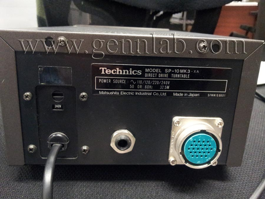Technics SP10mk3 Control Unit rear.