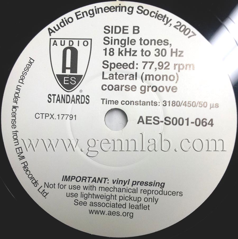 AES 78rpm Side B.