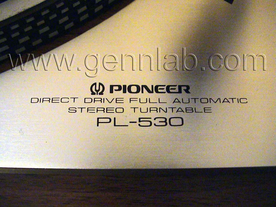 PIONEER PL530 Control Panel 1