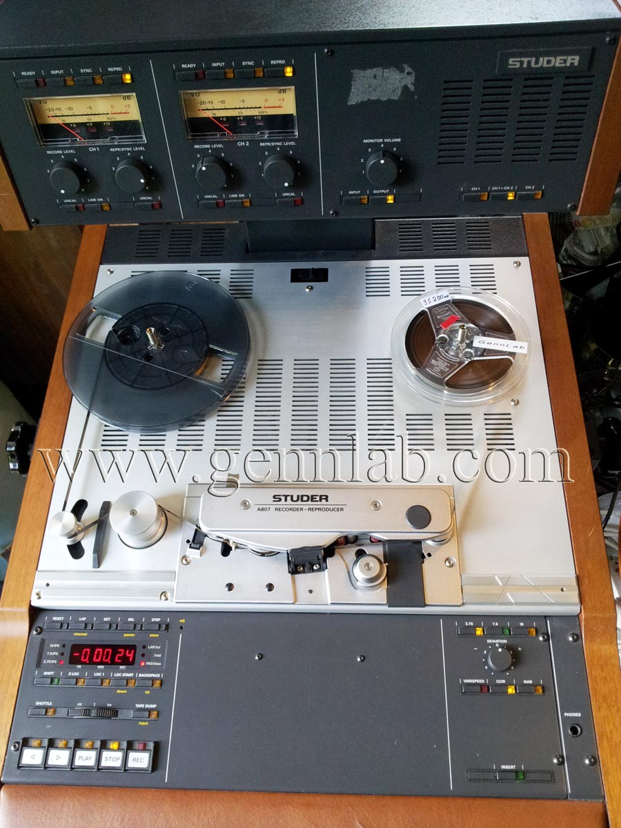 STUDER A807 Professional Tape Recorder under test.