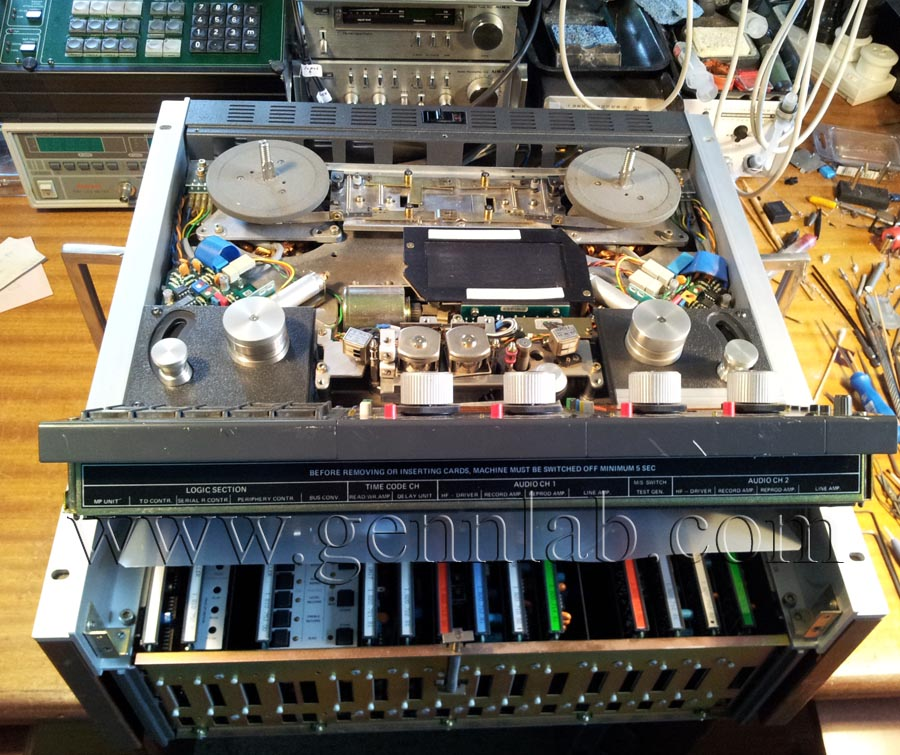 STUDER A810 Professional Tape Recorder open for service