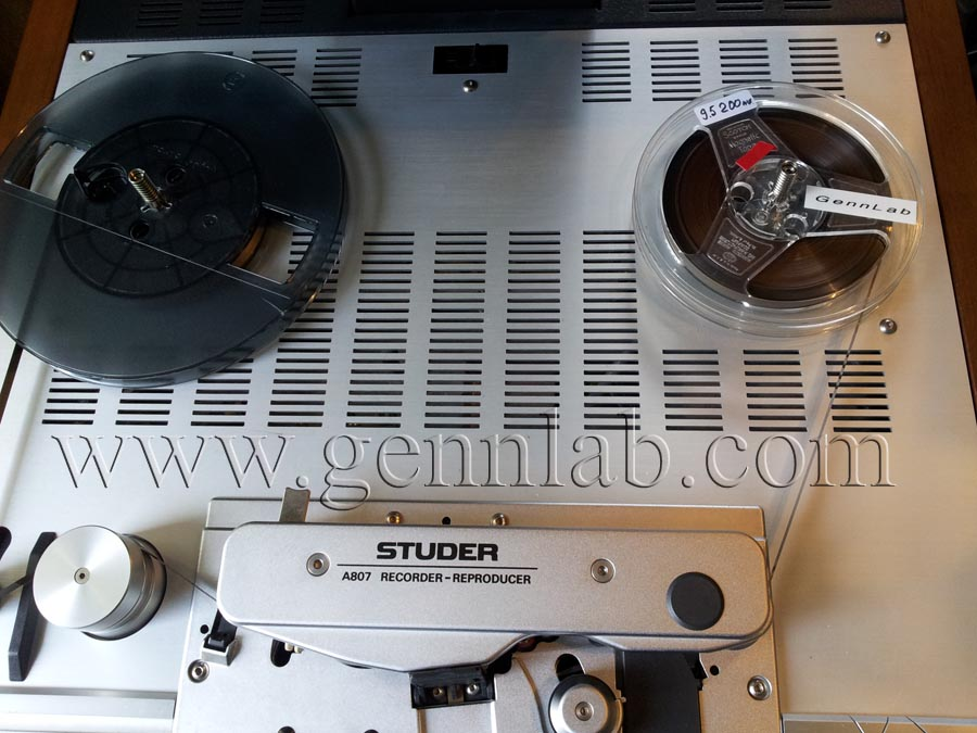 STUDER A807 Professional Tape Recorder under test 1.