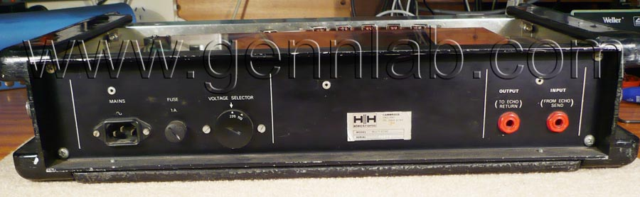 HH Tape Reverb Rear Panel