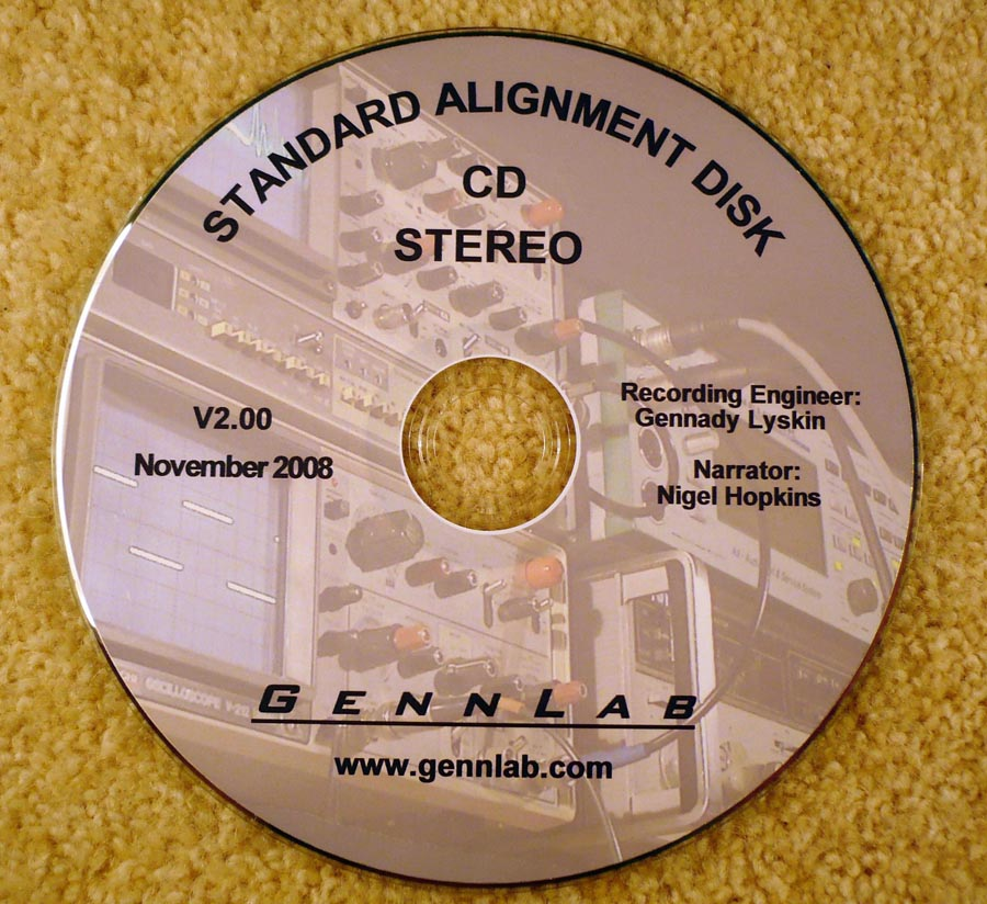GennLab Standard Alignment Disk V2.00